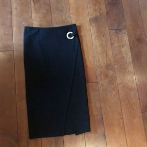 TopShop high waisted skirt with slit
